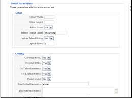 how do i configure jce editor