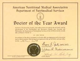 American Nutritional Medical Association Department Of Nutrimedical