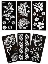 Flower And Butterfly Stencil Designs 6 Pcs Inkjet Tattoo Stencil Set Flower Grass Butterfly Pattern Freehand Tattoo