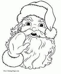 Small Picture Printable Santa Claus coloring page Free PDF download at http
