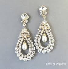diamond chandelier earrings for wedding bridal earrings vintage inspired pearl gold chandelier earrings wedding accessory wedding