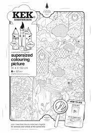 Kek Amsterdam Xxl Kleurplaat Papier Zwart Wit 91x150cm In Het Bos