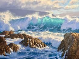 wild wellington coast 45cm x 60cm oil on canvas