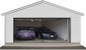 2 Car Garage Designs 2 Car Garage Door Screen 16x7ft Garage Screen Mesh With Hook And Loop Easy To Install Durable Garage Screen Curtain Cover Kit With Heavy Duty