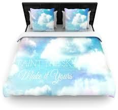 blue white duvet cover contemporary duvet covers and duvet sets by kess global inc