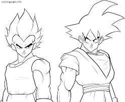 Small Picture Black Goku Coloring Pages PDF Free Printable GOKU Coloring Pages