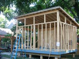 Superb Shed Style Roof Construction #10: ... How To Build A Skillion Roof  Outdoor Landscaping Unique Wooden Shed Ideas With Grable Wood Low .