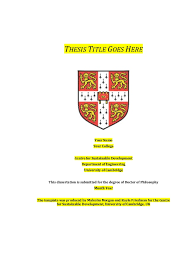 Csd Thesis Template 7th Draft