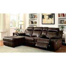 furniture of reclining l shaped leatherette sectional brown leather couch sofas at our