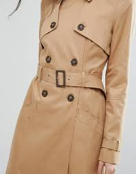 asos tall asos tall classic trench coat women stone