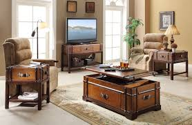Living Room Awesome Storage Chest Living Room With Brown Wood