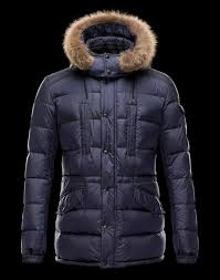 moncler jacket 2016 new moncler men fur collar down coats blue moncler