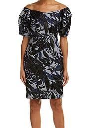 Alton Gray Size Chart Alton Gray Womens Floral Textured Sheath Dress Blue 4 At