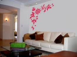 beautiful wall decal ideas living room red damask wall decal square brown microfiber cushion black glass