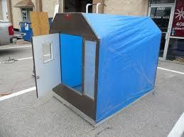 elegant folding ice shanty plans portable fish house