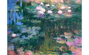 painting night monet s water lilies