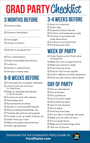 house party planning checklist beautiful the perfect grad party checklist for more helpful tips on planning