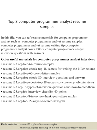 computer programmer resume samples top 8 computer programmer analyst resume samples 1 638 jpg cb 1432732266