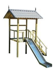 details about playhouse slide plans diy children outdoor playset kids wood shelter playground