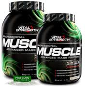 vitalstrength pro muscle advanced weight gainer protein powder