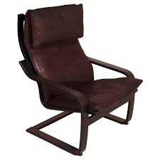 brown poÄng chair in side profile