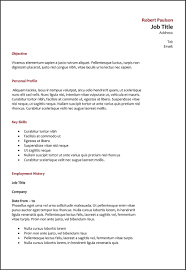 How To Do A Resume For A Job Ideal Font Size In Resume Format Template Standard Margins photos 70