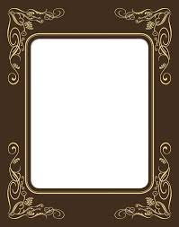 black and gold frame png. F01 Black And Gold Frame Png