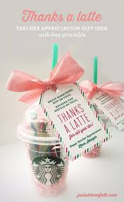 diy teacher gifts thanks a latte teacher gift and easy presents and diy