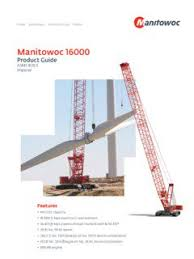 Manitowoc 16000 Load Chart Manitowoc 16000 Specifications Cranemarket