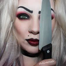 bride of chucky tiffany make up tutorial link and list in the ments eye colour has been photoped for character