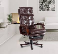 office chair footrest. padded reclining office chair high back ergonomic pu swivel wood base footrest c
