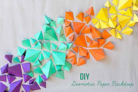 geometric paper wall art diy