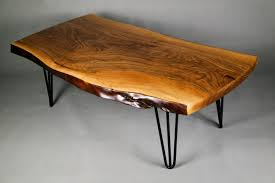 slab coffee table live edge table one of a kind walnut coffee table coffee table walnut furniture hairpin legs and walnut tables