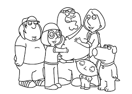 Small Picture Family guy coloring pages griffin family ColoringStar