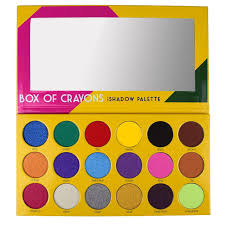 this crayon box eyeshadow palette will transport you to your youth the swatches will make you a believer