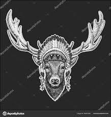 Jelen Cool Zvířecí Nošení Indiánské Indické čelenka S Peřím Boho