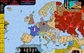 wwii in europe vinyl map  electronic rules