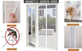 YUNGUI Eles(TM) Magnetic Screen Door Mesh Curtain For Sliding ...