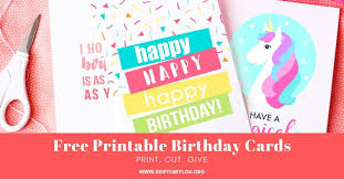 Free greeting card and envelope templates for kids to print out and craft into greeting cards for birthdays, mother's day, father's day, valentine's day, and other special occasions. Free Printable Birthday Cards Skip To My Lou
