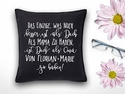 Sprüche Kissen Oma Geschenk Mit Namen Für Omas Und Mamas Sofa