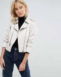 mango faux leather zip biker jacket y21f8 for women