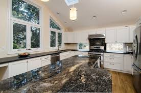 Warm Honed Absolute Black Granite And Saturnia Granite Contemporary
