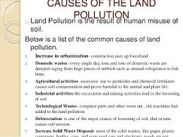 land pollution environmental science grade  5 causes of the land pollution