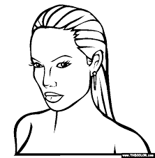 Angelina Jolie Coloring Page Only Coloring Pages