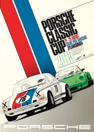 Auto Graphic Designer Porsche Classic Cup Poster Graphic Design Layout