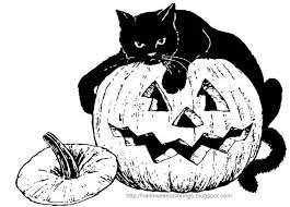 Small Picture Halloween Cat Coloring Pages Festival Collections Coloring