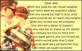 Thank You Dad Poems