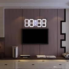 multifunctional remote control big led digital wall clock brightness adjule stopwatch alarm thermometer countdown calendar b outdoor wall clocks large
