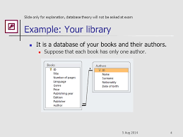Relational Databases Example 5 Aug Microsoft Access 2010 Relational Databases Program Part Of