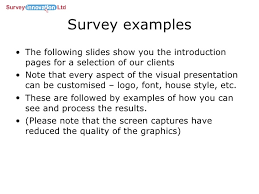 presentation survey examples survey swift linkedin
